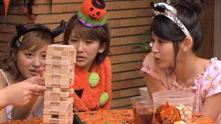 Loser gets her face taped. From ℃-ute DVD Magazine vol. 49. Ad reve...
