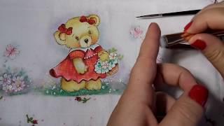 Pintura em Fralda – Aprenda Pintar Ursinha