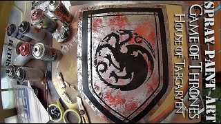 SPRAY PAINTING ART Targaryen House Banner GAME OF THRONES
