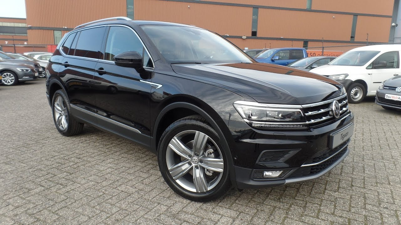volkswagen new tiguan allspace 2018 highline deep black pearl 19 inch victoria falls inside. Black Bedroom Furniture Sets. Home Design Ideas