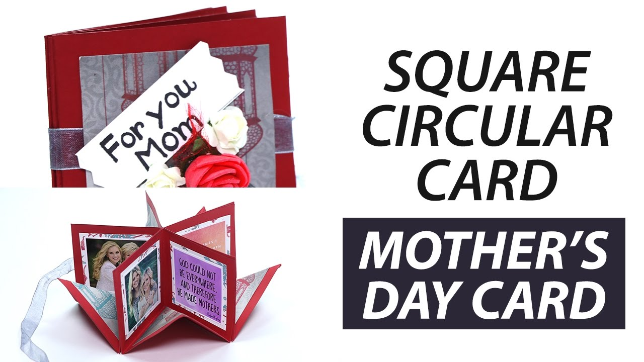 Handmade Mother 39 S Day Square Circular Greeting Card Step