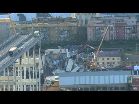 A Gênes, les recherches continuent dans les décombres du pont
