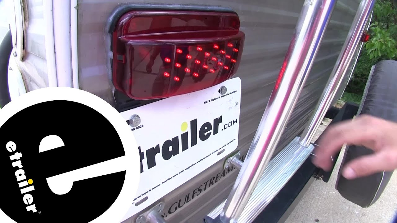 License Light Black Base LED RV Camper Trailer Stop Turn Brake Tail Lights