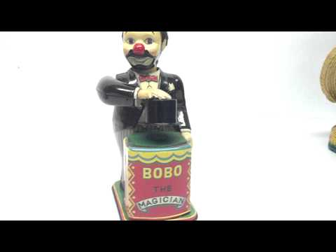 VINTAGE ~ BOBO THE MAGICIAN ~ NOMURA TOYS ~ WIND UP MADE IN JAPAN ~ VERY RARE!