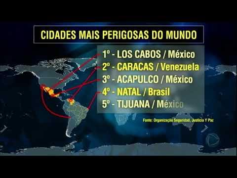 Brasil é País Mais Citado Na Lista De Cidade Violentas No Mundo