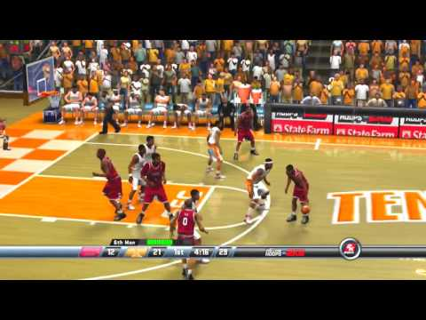 2K Sports College Hoops 2K8 Arkansas Razorbacks vs Tennessee Volunteers