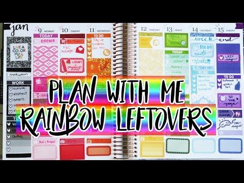 Plan With Me: Rainbow Leftovers!