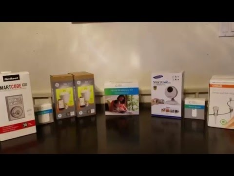 Samsung Smartthings security system short video
