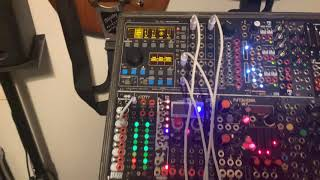 Playing around with Vermona meloDICER controlling a slice-friendly Buchla Easel sample on my ER-301