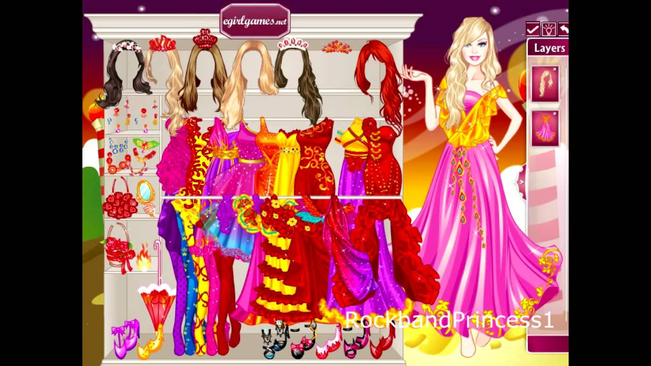Barbie Online Games - Barbie Dress Up Game - YouTube