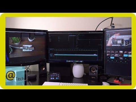 My Triple Monitor Video Editing Setup!