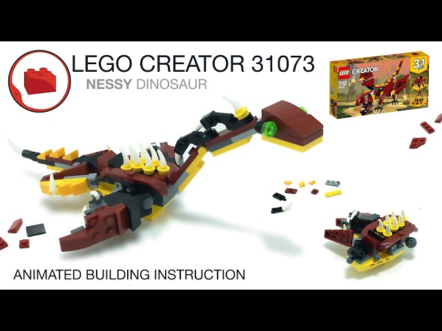 LEGO CREATOR 31073 alternative build instruction - Nessy Plesiosaur MOC Dinosaur Инструкция Динозавр