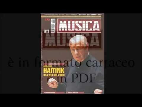 MUSICA. Rivista di musica classica. Il numero di dicembre-gennaio