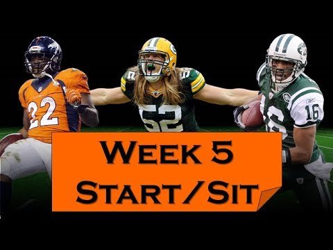 Fantasy Football 2018 Start 'em sit 'em Week-5