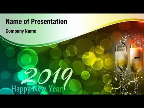 new year 2019 celebration powerpoint template backgrounds digitalofficepro 00891w