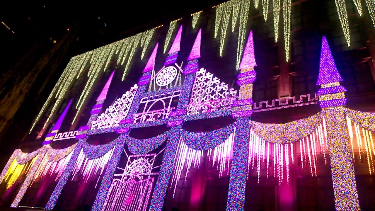 Superb 2016 Saks Fifth Avenue Light Show Amazing Design