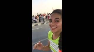Mid Run Marathon Selfie Video: Superb Atmosphere !! #TataMumbaiMarathon
