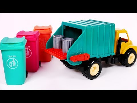Thumbnail: Learn Colors with Garbage Truck Toy Surprises for Kids and Children
