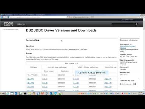 Download JDBC Driver for IBM DB2 Database