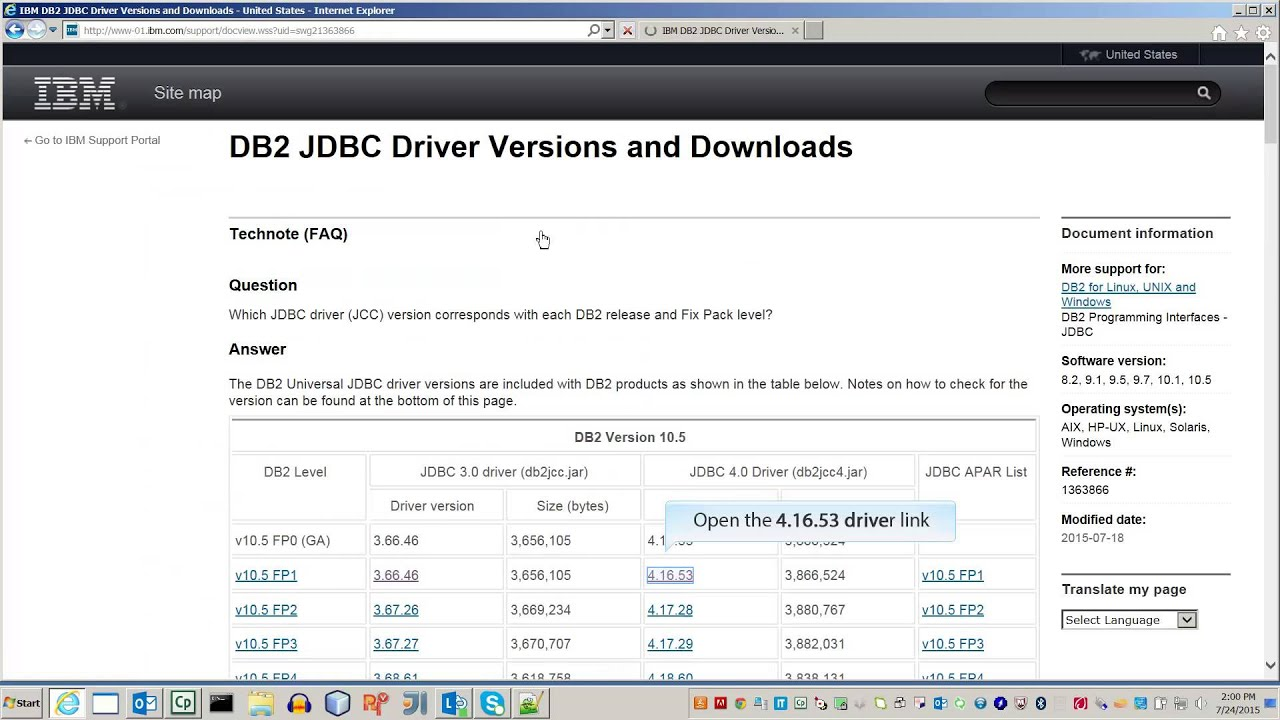 ibm db2 jdbc driver jar