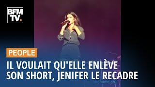 En plein concert, Jenifer recadre un spectateur qui lui crie d'enlever son short