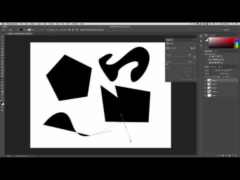 Photoshop Shapes, Paths, & Vector tools