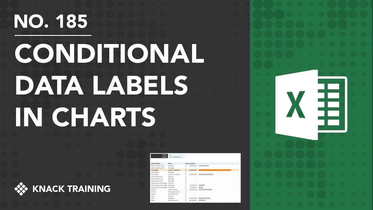 Creating conditional data labels in excel charts everyday office also rh youtube