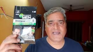 Garnier hair colour shampoo || honest review by apsvlogs || अपने बालों को सिर्फ 5 मिनट में काला करें