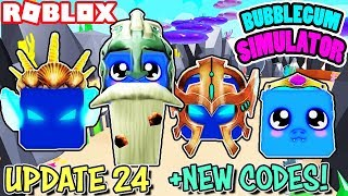'NEW CODES' UPDATE 24 IN BUBBLEGUM SIMULATOR (Roblox) J'ai HATCHED ALL NEW PETS ET HATS! 😱