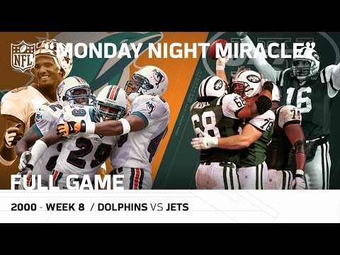 """Monday Night Miracle"" Miami Dolphins vs. New York Jets (Week 8, 2000)  