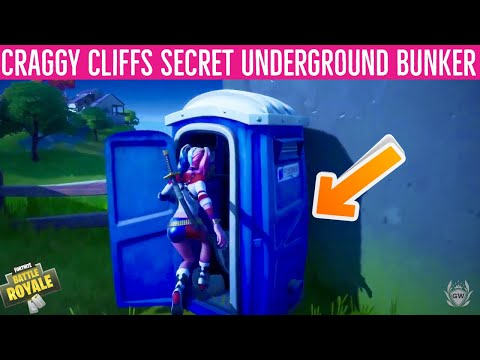Fortnite SECRET BASE Shadow Safe House CHARLIE Location! CRAGGY CLIFFS SECRET BUNKER Fortnite!