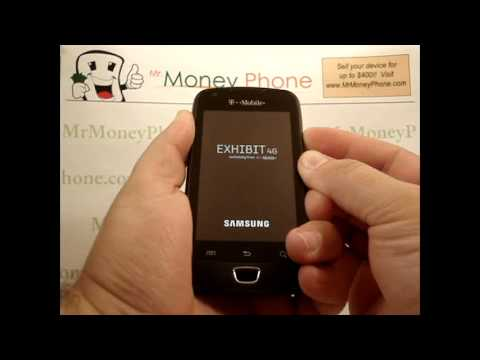 HARD RESET Samsung Exhibit 4G Master Data Wipe (RESTORE to FACTORY condition) Video