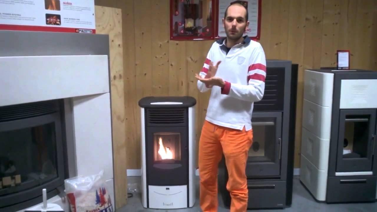Stufa a pellet superior monia ottoni fuoco youtube for Stufa a pellet superior