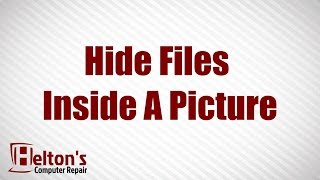 How to Hide Zip Files Inside a Picture Without any Extra Software