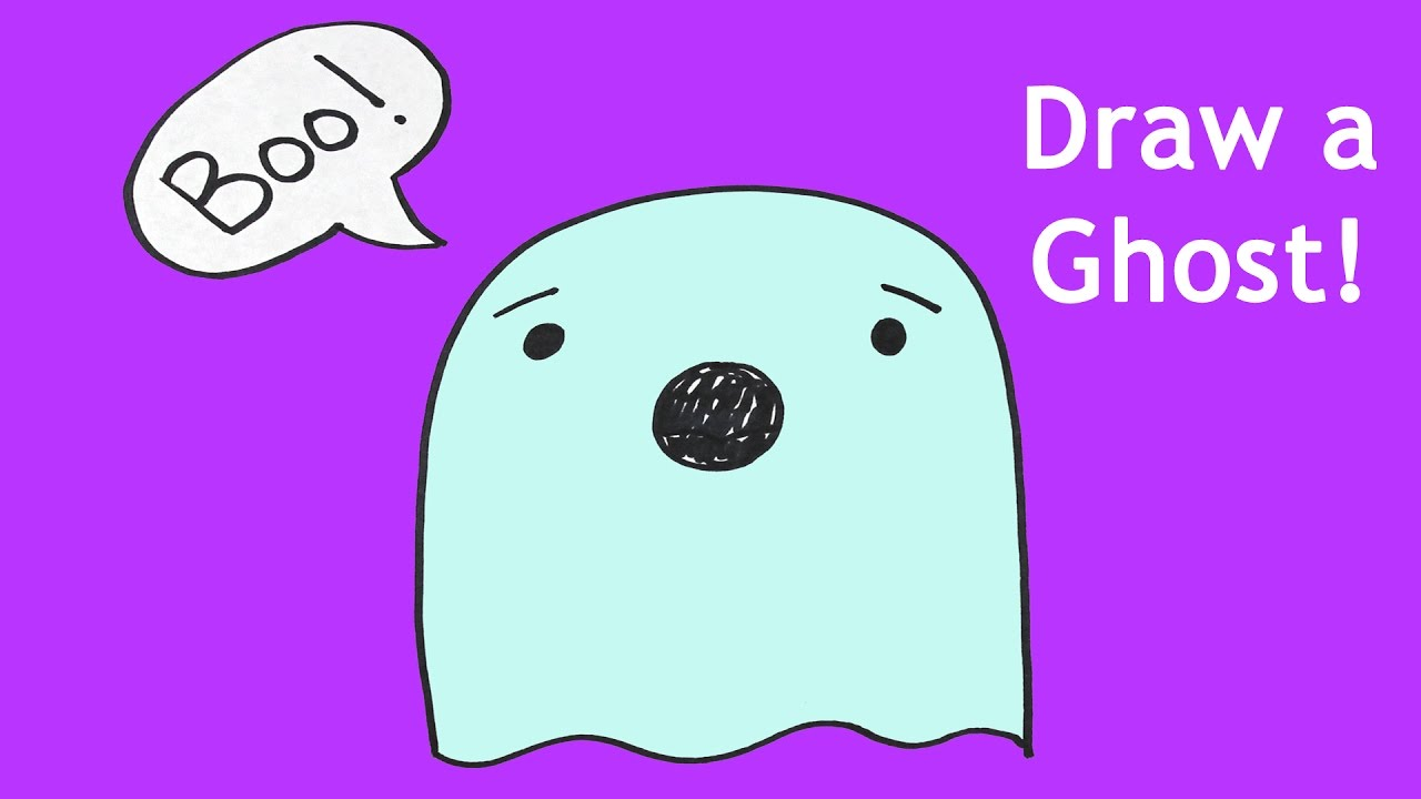 how to draw a ghost for halloween drawing lesson for kids - Halloween Drawing For Kids