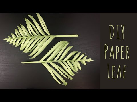 3D Leaves [DIY] Easy Decorative Leaves Making For Home Decor- Paper Crafts
