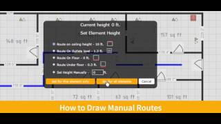 CAD5D - How to Draw Routes Manually (to define path for cables)