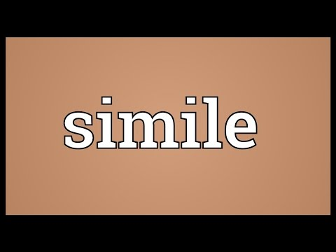 Simile Meaning