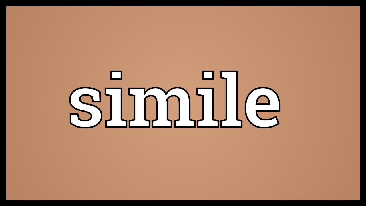 Simile Meaning Youtube