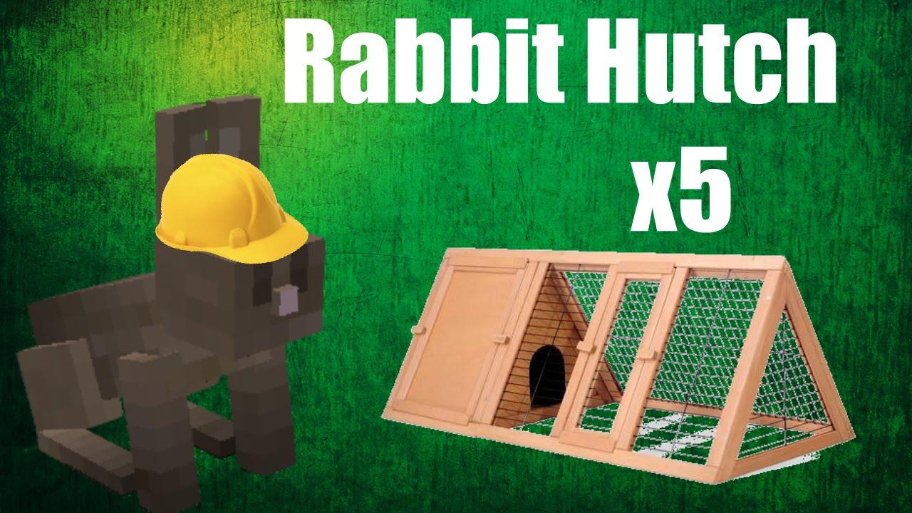 Minecraft Build Rabbit Hutch X5 Youtube