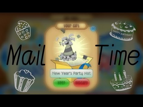 Animal Jam - LAST MailTime #20 - Party Hat & Beta White Tail & more...