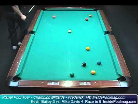 Kevin Bailey vs Mike Davis at Champion Billiards