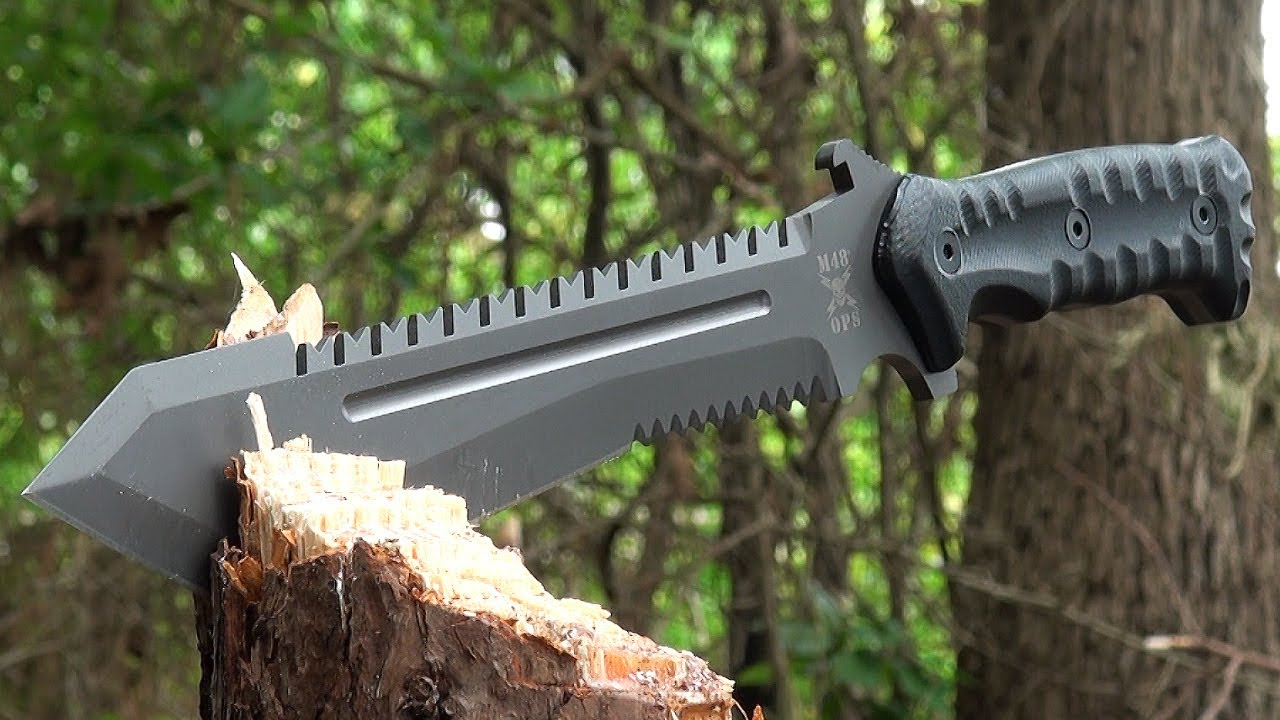 M48 Ops Combat Bowie With Sheath 79 99 Youtube