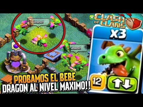 PROBAMOS EL BEBE DRAGÓN AL MÁXIMO!! | Clash of Clans | Rubinho vlc