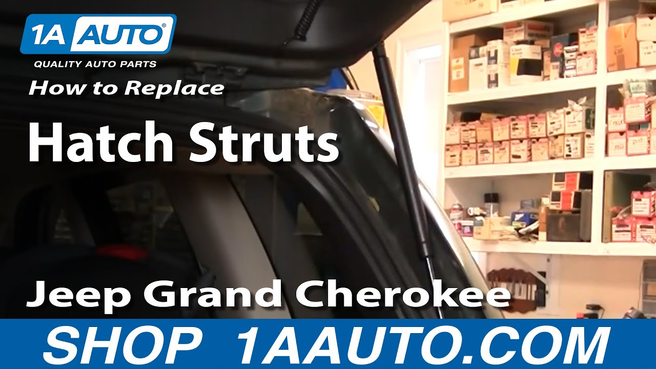 hight resolution of how to replace lift support 99 04 jeep grand cherokee