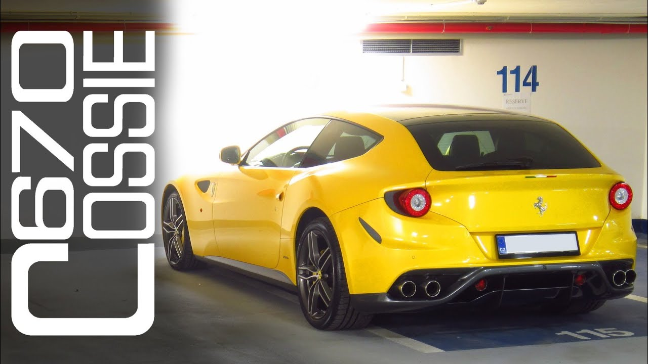Giallo Tristrato Yellow Ferrari FF in Prague - walkaround in garages