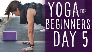 15 Minute Yoga For Beginners 30 Day Challenge Day 5 With Fightmaster Yoga