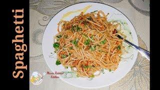 Evabe Spaghetti Toyri Kore Dekhun Darun Mojar Ey Spaghetti|Spaghetti Recipe|Spaghetti With Tomato