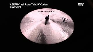 "20"" Crash Paper Thin Custom video"