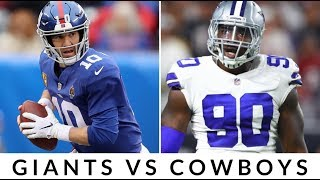 Live Reactions To The New York Giants & Dallas Cowboys